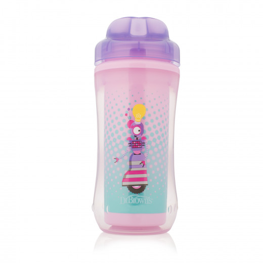 Dr. Brown Spoutless Insulated Cup - Purple Robot 10 oz / 300 ml