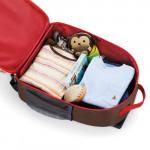 حقيبة مدرسية بعجلات بطبعة مونكي للجنسين من سكيب هوب، متعددة الالوان
