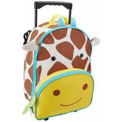 Skip Hop Zoo Little Kid Travel Rolling Luggage Backpack - Giraffe