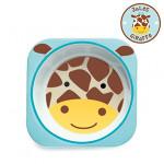 Skip Hop Zoo Melamine Plate and Bowl Set, Giraffe