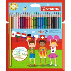 Stabilo color Wallet of 24 colours - Coloured pencil