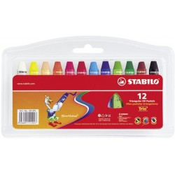 Stabilo Trio Oil Pastels 12
