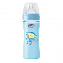 Chicco - Well-Being Bottle 250ml- Silicone (Monkey)