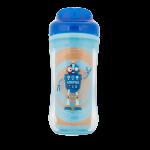 كوب مياه برسمة روبوت 10 اوقية أزرق من ماركة دكتور براونز