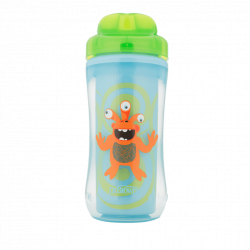 Dr. Brown's 10 oz Spoutless Insulated Cup - Green Monster (Stage 4: 12m+)