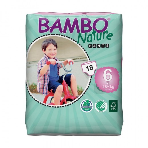 كلوت نيتشر كلاسيكي لتدريب الأطفال من بامبو ، مقاس 6 (18+ كجم) ، 18 قطعة