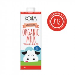 Koita Organic Low Fat Milk 1 LT x12