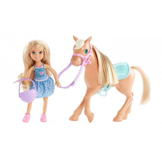دمى وحصان من باربي كلوب تشيلسي