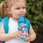 قارورة ماء مع مصاصة لتدريب لاطفال الصغار على الشرب بشكل طبيعي من سكيب هوب, بومة
