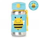 Skip Hop Zoo Stainless Steel Straw Bottle - Bee