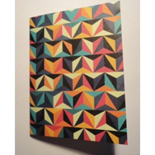 Colors & Shapes Triangle Compositions Oriental Pattern Notebook