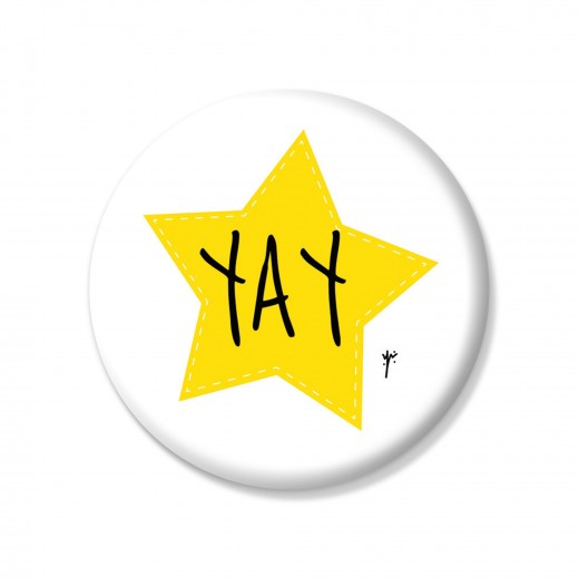 YM Sketch-Yay Button Pin