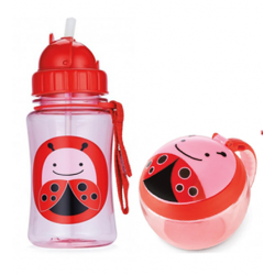 Skip Hop Zoo Straw Bottle & Snack Cup-Ladybug