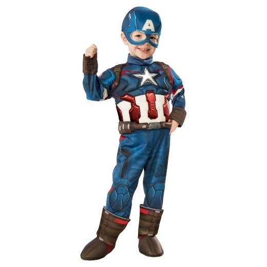 Captain America Halloween Costume, 3-8 years