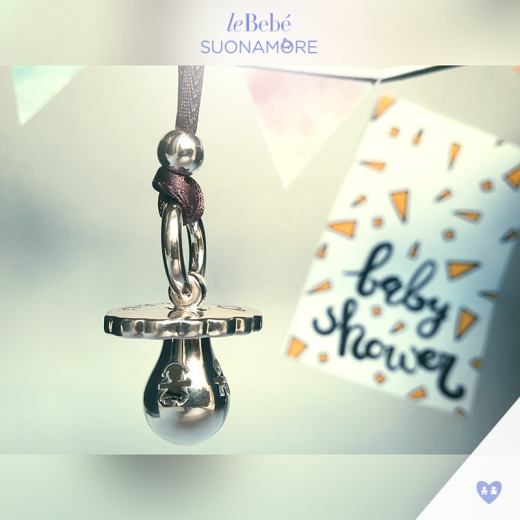 Le Bebe Silver Pacifier Plated Necklace