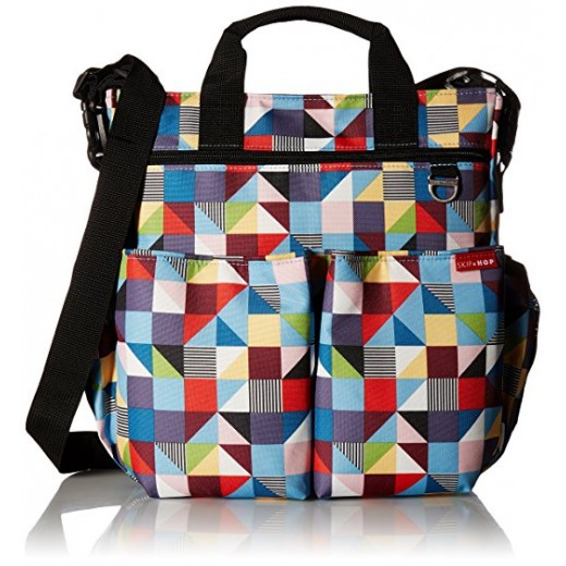 Skip Hop Duo Signature Carry All Travel Diaper Bag Tote with Multipockets, One Size, Prism