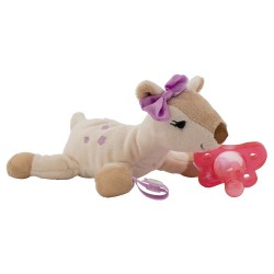 Dr. Brown's Deer Lovey with Pink One-Piece Pacifier