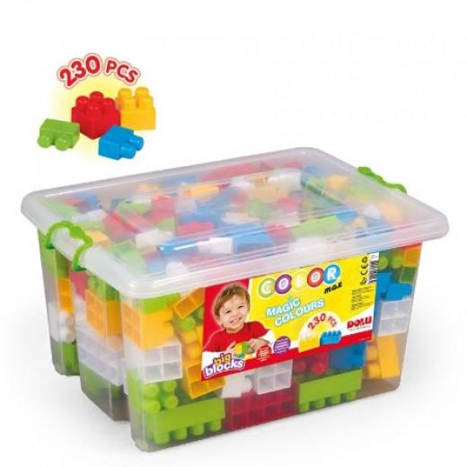 Dolu Big Color Blocks In Plastic Box- 230 pcs