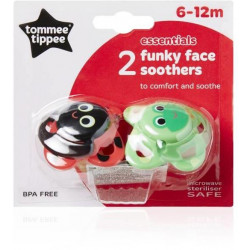 Tommee Tippee Suede Funky Face 6-12 months, 2 pcs