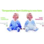 BabySafe Baby Wear Temperature Alert - Sleep Suit (2 pieces) /  Blue - 0-3 Months