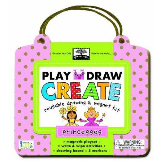 Innovative Kids Green Play Draw: Princess