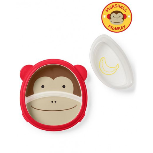 Skip Hop Zoo Smart Serve Plate & Powl Monkey