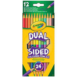 أقلام رصاص ملونة من كرايولا 24 وجهين