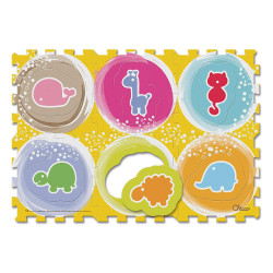 Chicco - Soft Puzzle Mat Animals (6 Pieces)
