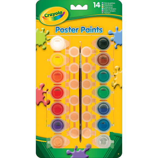 Crayola 14 Poster Paints 1X12