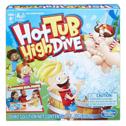 Hasbro Gaming Hot Tub High Dive Game With Bubbles For Kids Board Game For Boys and Girls