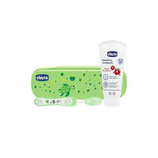 Chicco Oral Set Without Fluoride, Green