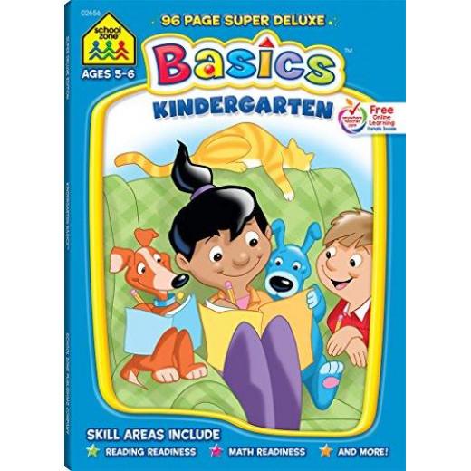 School Zone - Kindergarten Basics: Super Deluxe Edition Workbook