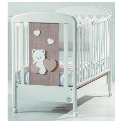 Baby Expert Baby Cot Balu - White/Oak