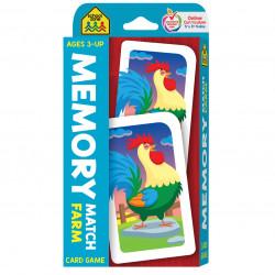 School Zone - Memory Match Farm Card Game