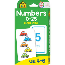School Zone - Numbers 0-25 Flash Cards