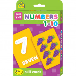 School Zone - Numbers 1-10 Skill Cards, 31 cards