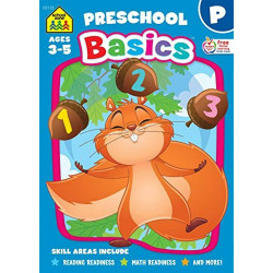 School Zone - Preschool Basics Workbook Ages 3-5