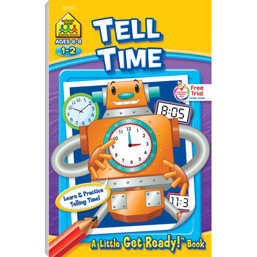 School Zone - Tell Time ages 6-8 a little get ready