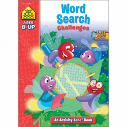 School Zone -Word Search Challenges Activity Zone Workbook Ages 8 and Up