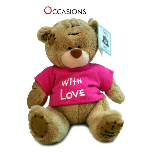 Me to You With Love Teddy Bear, Pink Shirt