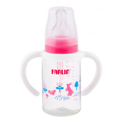 Farlin Standard Neck Feeder with Handle, 140ml, Pink