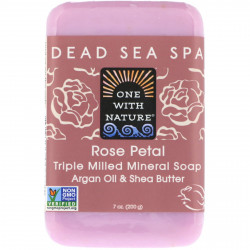 One With Nature Dead Sea Mineral Soap Rose Petal