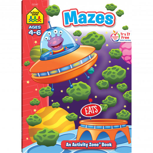 School Zone - Mazes An Activity Zone Book ages 4-6