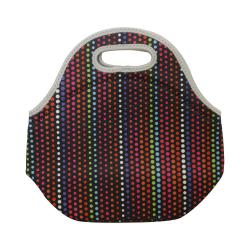 حقيبة غداء للسفر - نقاط ملونة
