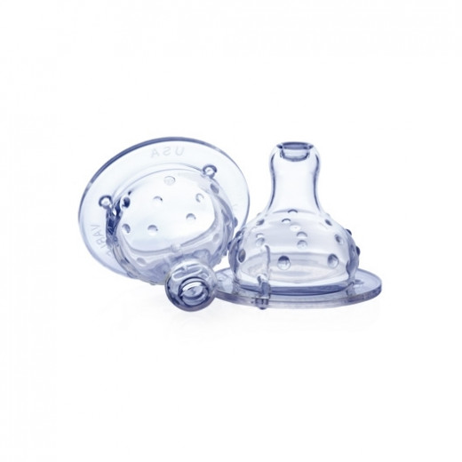 Nuby Wide Neck Anti-drip Teat, Transparent