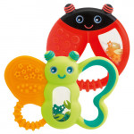 عضاضة  لتهدئة الأسنان (6 أشهر +) ،بتصميم فراشة أو الدعسوقة من تشيكو