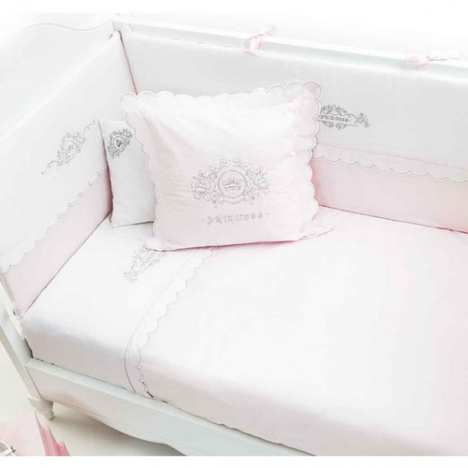 Funna Baby Bed Set 8pcs Princess - 70x140 - Pink