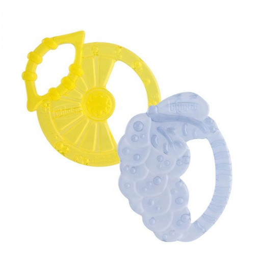 Chicco Soft Relax Silicone Teething Ring (2M+) 2 Pieces.