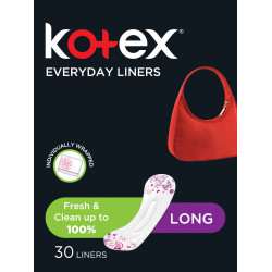 الفوط النسائية للاستخدام اليومي من كوتكس, معطرة طويلة ، 30 فوطة