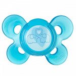 لهاية سيليكون  مع غطاء 6-12 شهر (أزرق) - قطعة واحدة من تشيكو